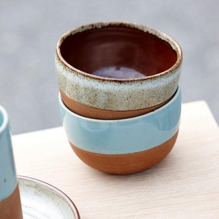 Ceramic bowl blue