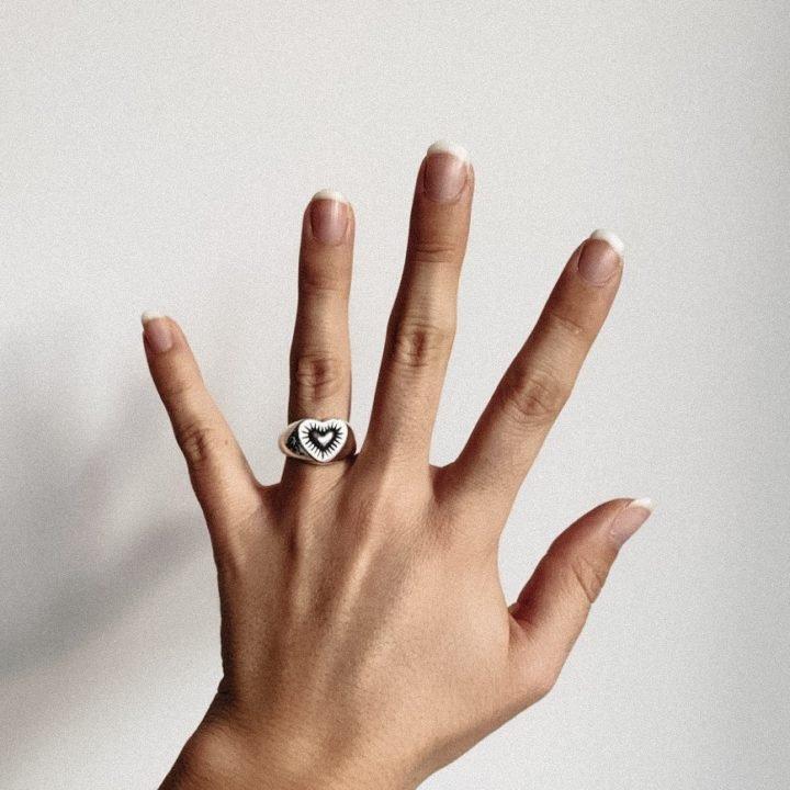 Burning Heart Signet Ring