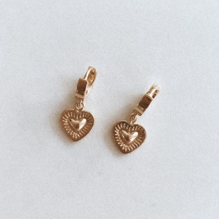 Burning Heart Earrings GOLD